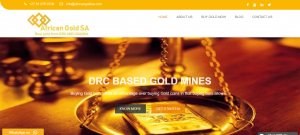 African Gold SA Website Design Project by Digital Marketing PTA