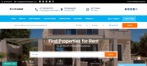 Property Rental Website Development & Designing Portfolio