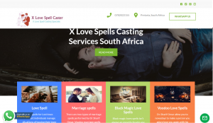 x Love Spell Casting website design project by digital marketing pta