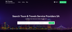 SA Travels Search Hotels and Tourist Places by Digital Marketing PTA