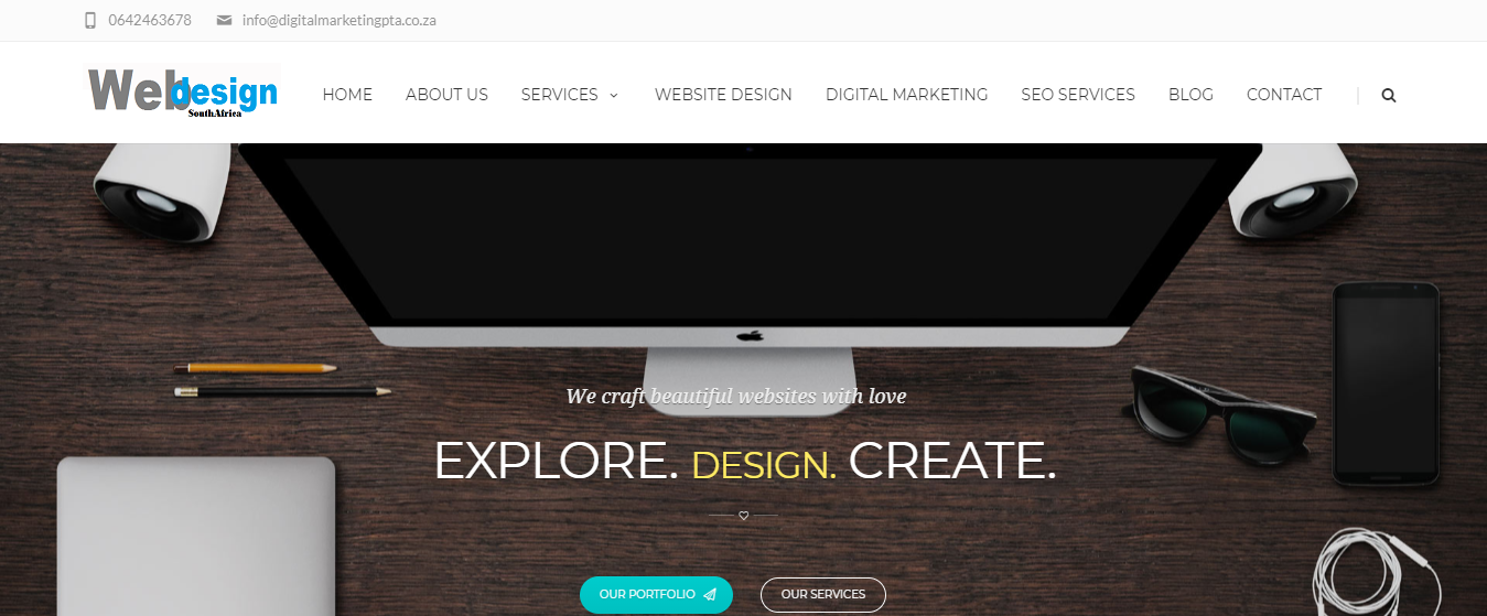 Website Design Company based in Pretoria by Digital Marketing PTA