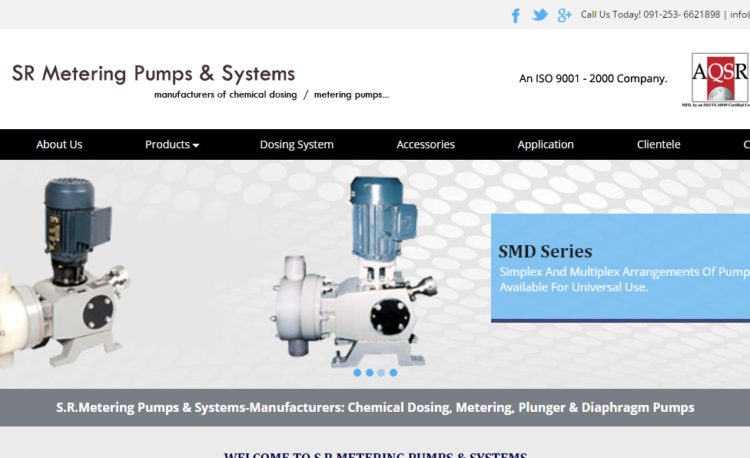 SR Metering India - Website Design and SEO Project